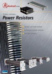 Product Catalogue Power Resistors - Ruhstrat GmbH
