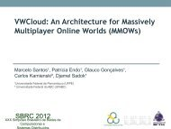 VWCloud: An Architecture for Massively Multiplayer Online ... - UFMG