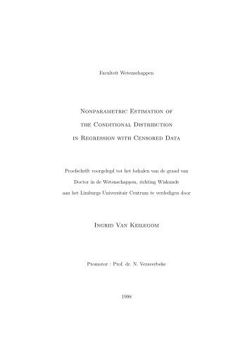 Nonparametric Estimation of the Conditional Distribution ... - I-BioStat