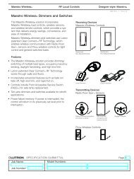 Maestro Wireless® Dimmers and Switches - Environmental - Lutron