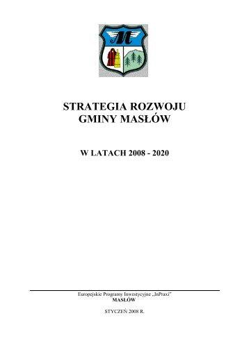 Strategia Gminy Masłów - Biuletyn Informacji Publicznej - BIP