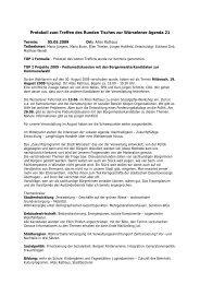 Protokoll Runder Tisch 05.05.09 - Agenda-wuerselen.de