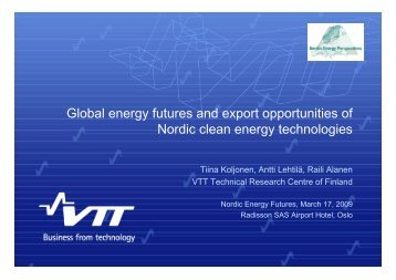 Global energy futures and export opportunities of Nordic clean ...