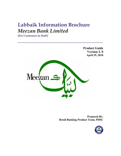 Labbaik Information Brochure Meezan Bank Limited