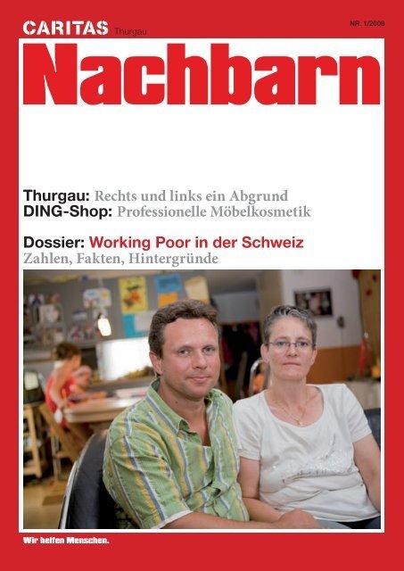 Working Poor in der Schweiz Zahlen, Fakt - Caritas Thurgau