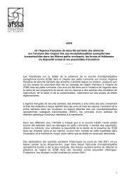 AVIS de l'Agence française de sécurité sanitaire des ... - Vie publique