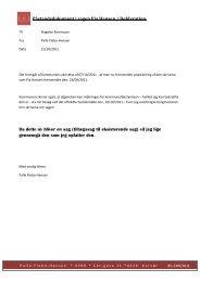 PÃ¥standsdokument i sagen Pia Hansen / Deklaration