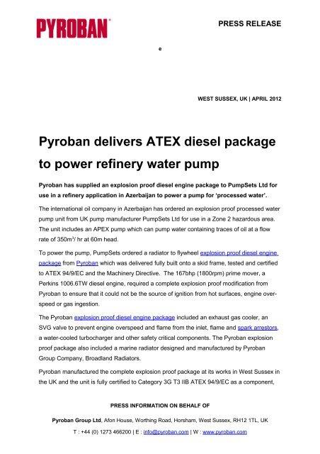 Full Press Release - Pyroban Group Ltd