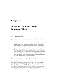 State estimation with Kalman Filter