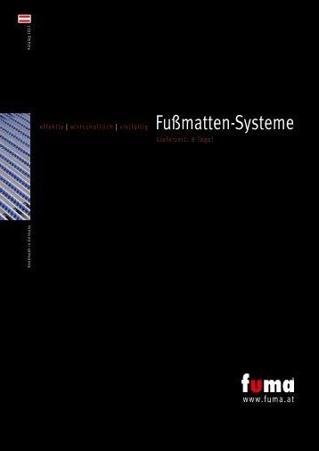Katalog FUMA Fußmatten-Systeme 2013 als PDF