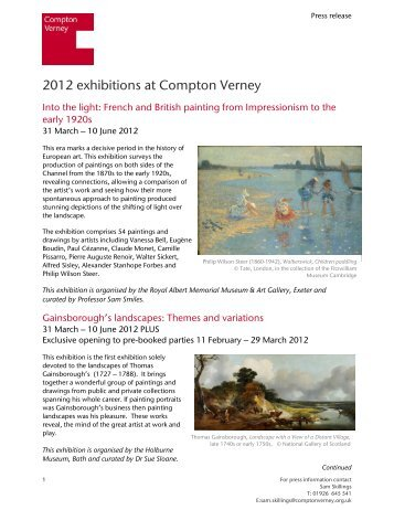 2012 exhibitions at Compton Verney - The Association of Gardens ...