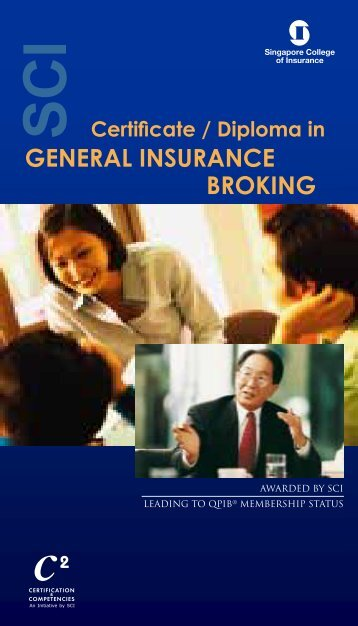 Certificate / Diploma in General InsuranCe BrokInG - Singapore ...