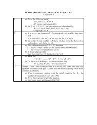 PCA101: Discrete Mathematical Structures