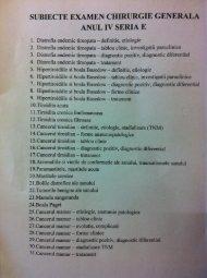 SUBIECTE EXAMEN CHIRURGIE GENERALA ANUL ... - OvidiusMD