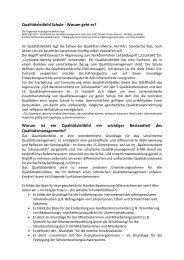 Qualitätsleitbild Schule - Gymnasium Engen