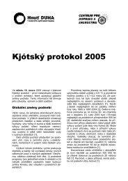 Kjótský protokol 2005 - Hnutí DUHA
