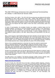 Press Release CADdy++ SEE Electrical 2005 - Ige-xao.com