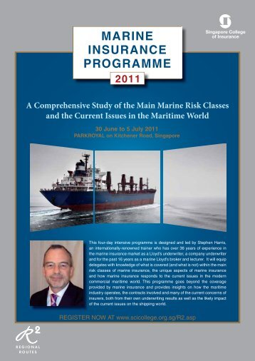 MARINE INSURANCE PROGRAMME - Singapore College of ...
