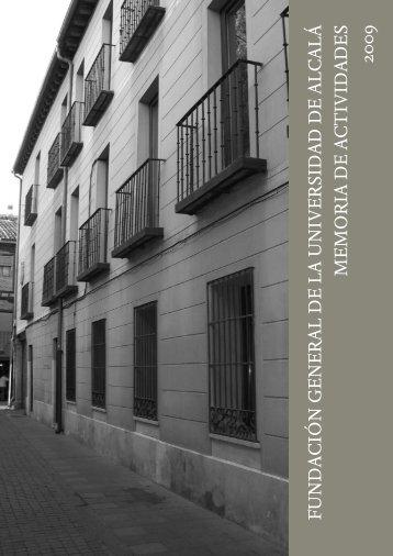 Memoria 2009 - Fundación General de la Universidad de Alcalá