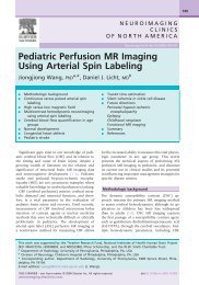 Pediatric Perfusion MR Imaging Using Arterial Spin Labeling