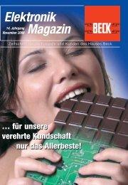 Elektronik Magazin - BECK GmbH & Co. Elektronik Bauelemente KG