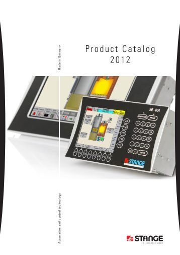 Product Catalog 2012 - Stange Elektronik GmbH