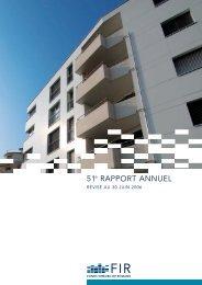 rapport annuel no 51 révisé au 30 juin 2006 | pdf - FIR - Fonds ...