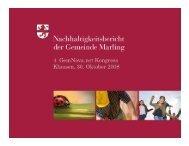 Nachhaltigkeitsbericht für Gemeinden - GemNova.net