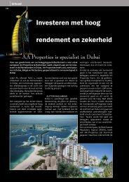 Investeren met hoog rendement en zekerheid - AA properties Dubai