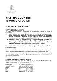 master courses in music studies - Accademia Nazionale di Santa ...