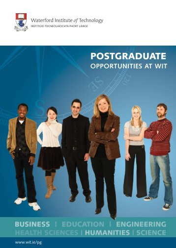 POSTGRADUATE - Waterford Institute of Technology