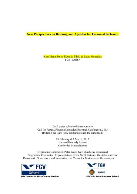 New Perspectives On Banking And Agendas