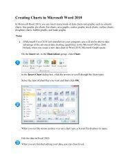 Creating Charts in Microsoft Word 2010
