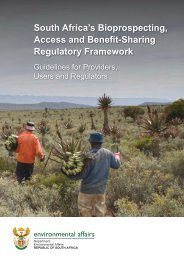 South Africa's Bioprospecting, Access and Benefit-Sharing ...