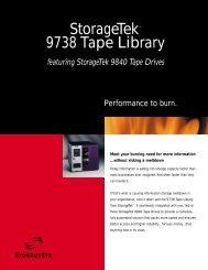 StorageTek™ 9738 Tape Library - Unylogix Technologies Inc.
