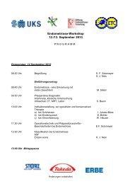 Endometriose-Workshop 12./13. September 2013