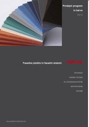 Swisspearl® barve Carat, Reflex, Expressiv - Esal