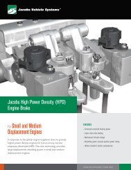 The latest engine brake technology and updates - Jacobs Vehicle