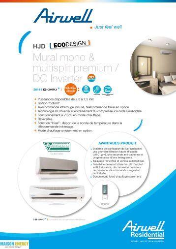 climatiseur mural manuel d 39 instructions gt. Black Bedroom Furniture Sets. Home Design Ideas