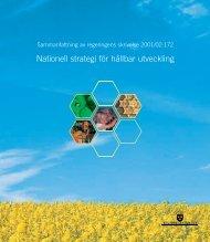 Nationell strategi för hållbar utveckling - Government Offices of ...
