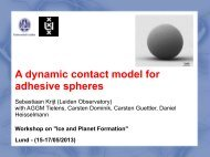 A dynamic contact model for adhesive spheres - Lund Observatory