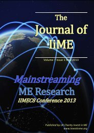 Journal of IiME Volume 7 Issue 1 - Invest in ME