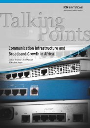 Communication Infrastructure and Broadband ... - RSM International