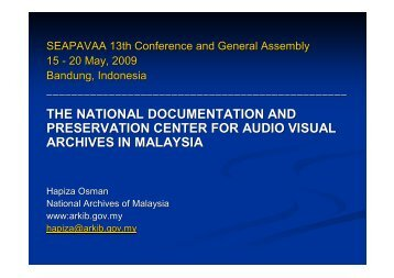 A New Direction for National Archives of Malaysia
