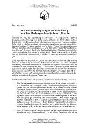 Die Arbeitszeitregelungen im Tarifvertrag zwischen Marburger Bund ...
