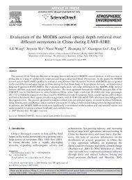 Evaluation of the MODIS aerosol optical depth retrieval over different ...