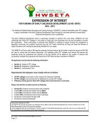 expression of interest - The Health and Welfare Sector Education ...