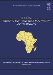 Capacity Transformation for Effective Service Delivery Capacity ...