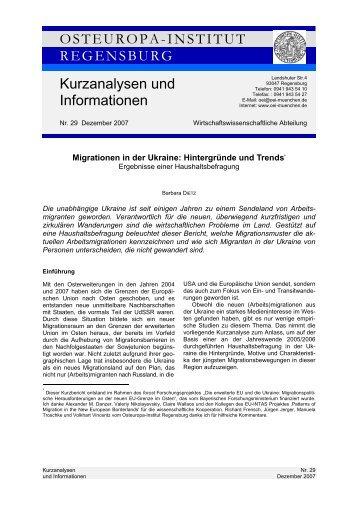 OSTEUROPA-INSTITUT REGENSBURG Kurzanalysen und ...