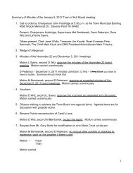 Summary of Minutes of the January 9, 2012 Town of Hull Board ...